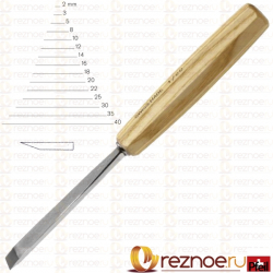 Chisel straight flat Pfeil 1E, with one-sided sharpening (width 2 mm)