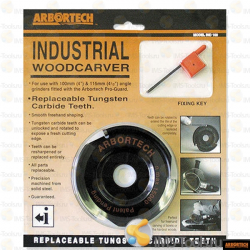 Arbortech Industrial Woodcarver Blade Replaceable Tungsten Carbide Inserts for Angle Grinders