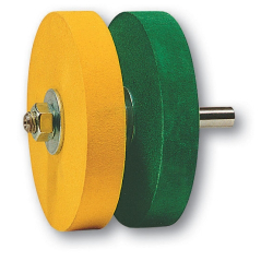 Koch Sanding discs 12mm for grooved and straight blades yellow and green, for Koch machines